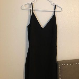 Black Deb shops dress.